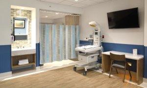 Vista de la habitación del paciente